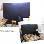 【模様替えの模様④】黒板シートのブラックで空間を引き締める!